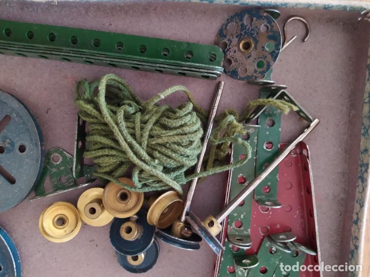 Juegos construcción - Meccano: Meccano Español. Años 30, contiene ticket de 1936. Creo que no falta ninguna pieza. Negociable. - Foto 15 - 225115468