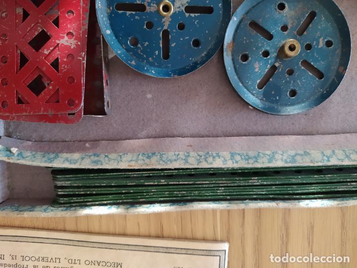 Juegos construcción - Meccano: Meccano Español. Años 30, contiene ticket de 1936. Creo que no falta ninguna pieza. Negociable. - Foto 17 - 225115468