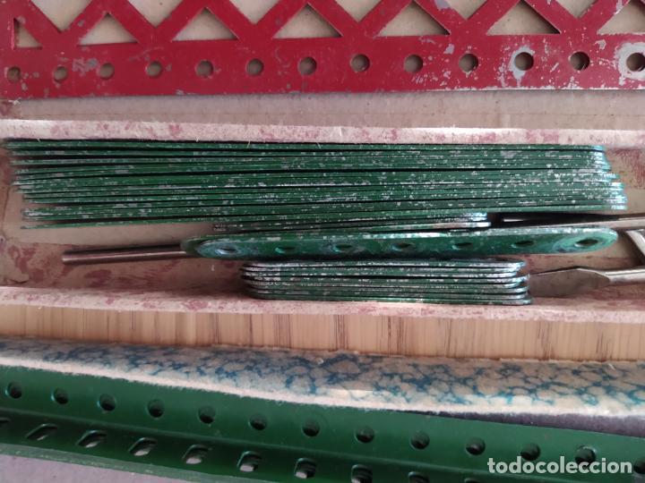 Juegos construcción - Meccano: Meccano Español. Años 30, contiene ticket de 1936. Creo que no falta ninguna pieza. Negociable. - Foto 20 - 225115468