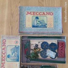 Juegos construcción - Meccano: MECCANO ESPAÑOL. AÑOS 30, CONTIENE TICKET DE 1936. CREO QUE NO FALTA NINGUNA PIEZA. NEGOCIABLE.. Lote 225115468