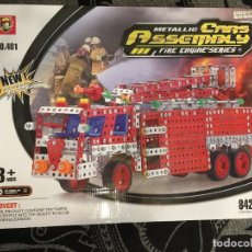 Juegos construcción - Meccano: METALLIC CARS ASSEMBLY CAMIÓN DE BOMBERO 842 PIEZAS. Lote 226794400