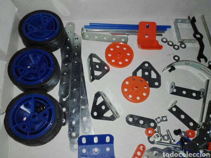 Juegos construcción - Meccano: LOTE MECCANO- CON HERRAMIENTAS MOTOR Y PORTAPILAS - Foto 4 - 227274050