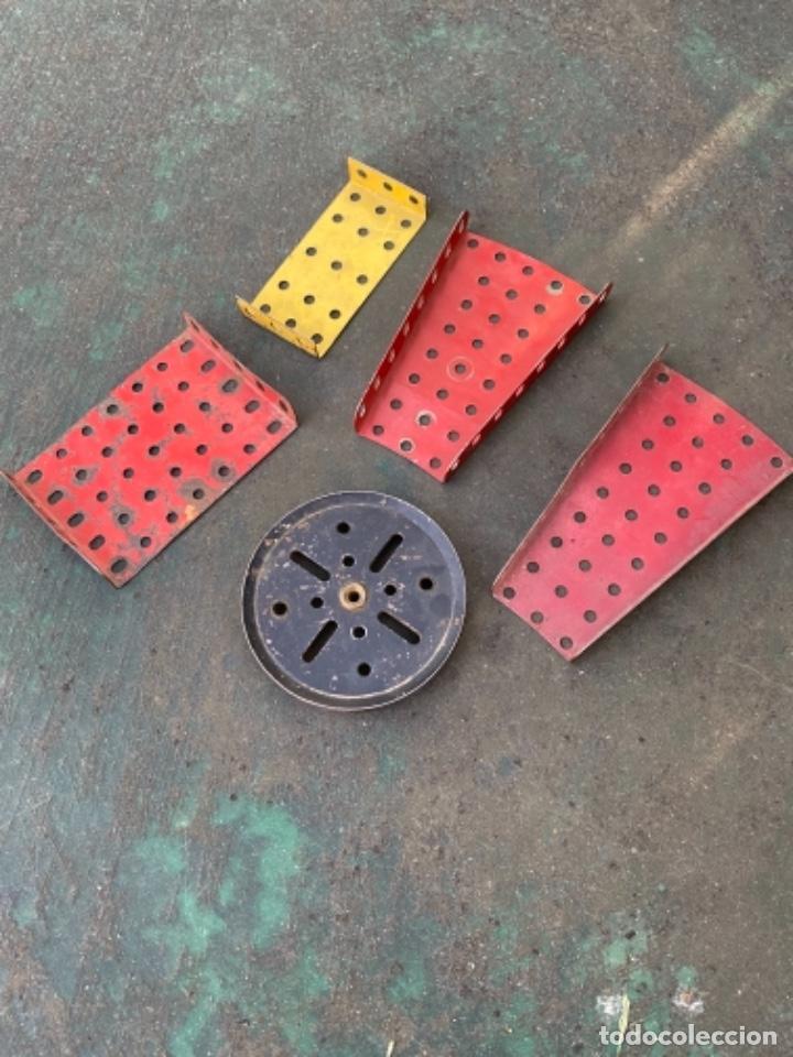 LOTE 5 PIEZA METAL ANTIGUAS METAL MADE IN ENGLAND MECCANO CONSTRUCCION (Juguetes - Construcción - Meccano)