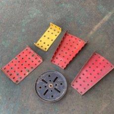 Juegos construcción - Meccano: LOTE 5 PIEZA METAL ANTIGUAS METAL MADE IN ENGLAND MECCANO CONSTRUCCION. Lote 242355060