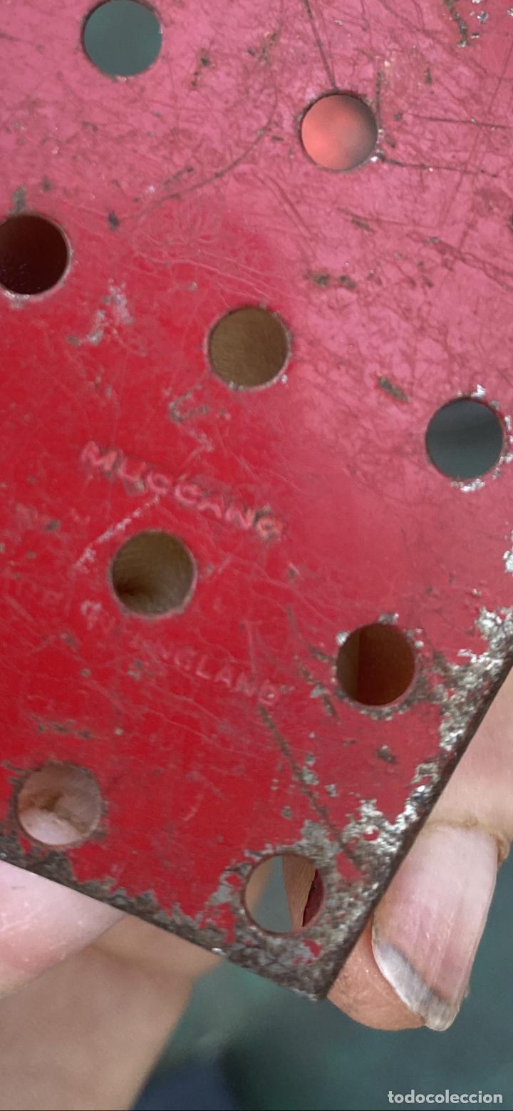 Juegos construcción - Meccano: Lote 5 pieza metal antiguas metal made in england meccano construccion - Foto 2 - 242355060