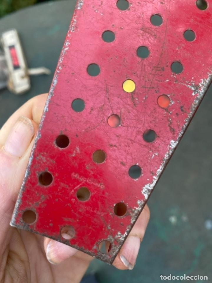 Juegos construcción - Meccano: Lote 5 pieza metal antiguas metal made in england meccano construccion - Foto 3 - 242355060
