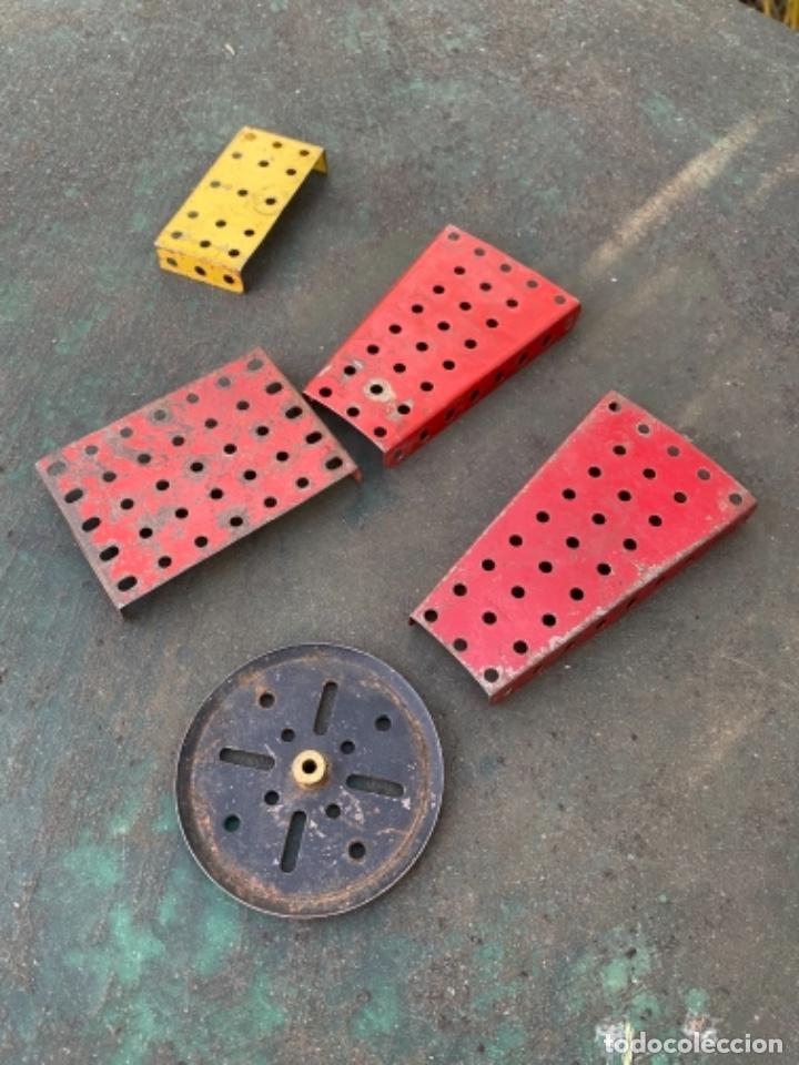 Juegos construcción - Meccano: Lote 5 pieza metal antiguas metal made in england meccano construccion - Foto 4 - 242355060