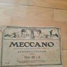 Juegos construcción - Meccano: INSTRUCCIONES MECCANO 00 Y 0. Lote 244545665