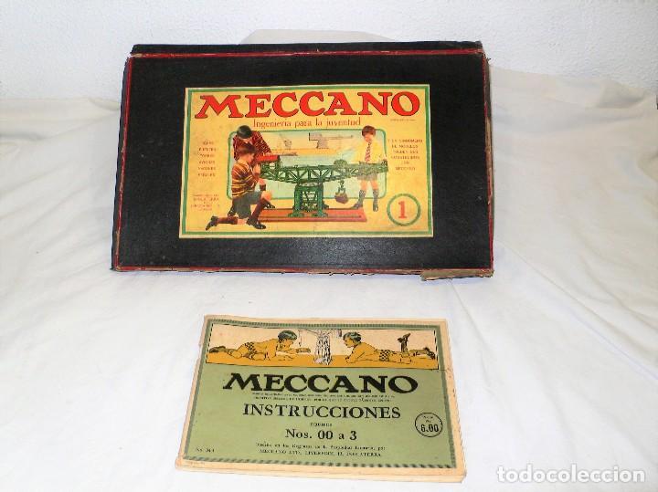 ANTIGUO MECCANO 1 EN CAJA E INSTRUCCIONES (Juguetes - Construcción - Meccano)