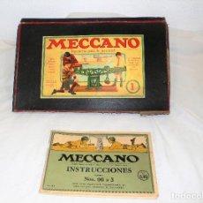 Juegos construcción - Meccano: ANTIGUO MECCANO 1 EN CAJA E INSTRUCCIONES. Lote 245611945