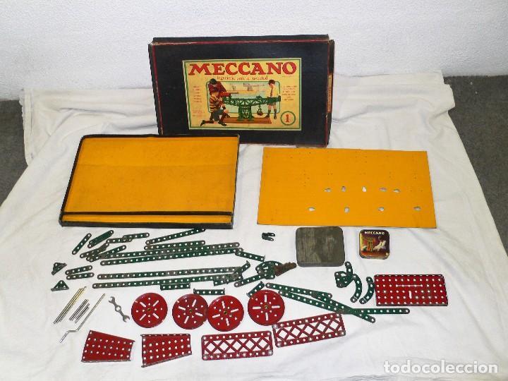 Juegos construcción - Meccano: ANTIGUO MECCANO 1 EN CAJA E INSTRUCCIONES - Foto 13 - 245611945