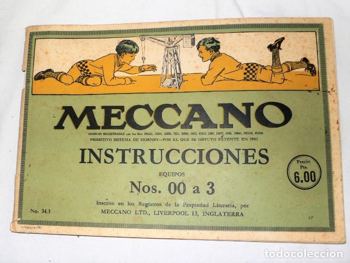 Juegos construcción - Meccano: ANTIGUO MECCANO 1 EN CAJA E INSTRUCCIONES - Foto 22 - 245611945