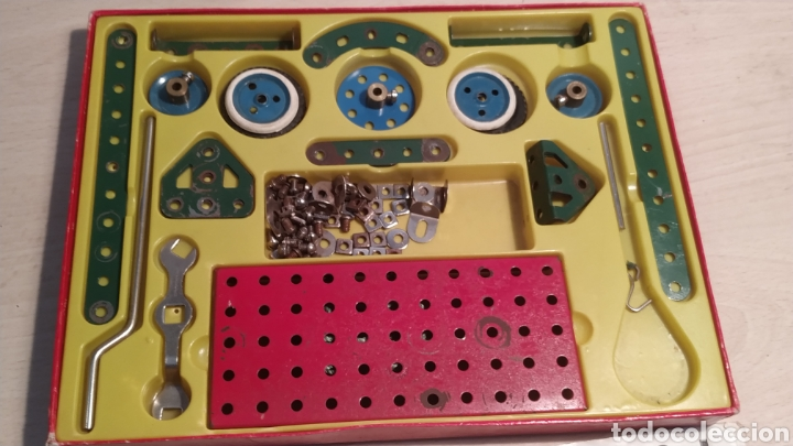 Juegos construcción - Meccano: Meccano número 0 casi completo - años 60 - Foto 3 - 245889290