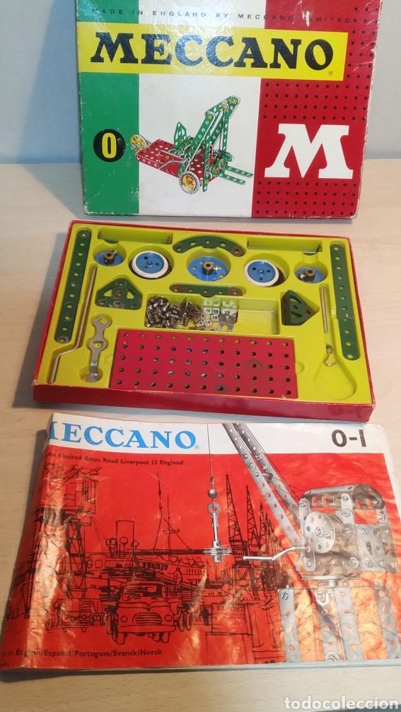 Juegos construcción - Meccano: Meccano número 0 casi completo - años 60 - Foto 4 - 245889290