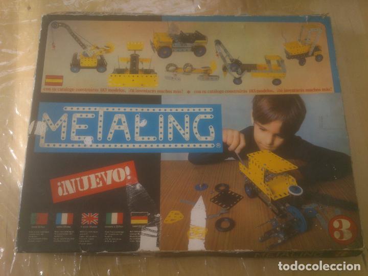 JUEGO DE CONSTRUCCIÓN MECCANO METALING Nº 3 AÑOS 70S JUGUETES POCH (Juguetes - Construcción - Meccano)
