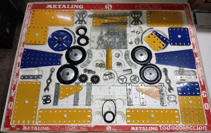 ANTIGUO MECCANO METALING Nº 5 CAJA GRANDE BASTANTE COMPLETO MADE IN SPAIN ORIGINAL AÑOS 70 (Juguetes - Construcción - Meccano)