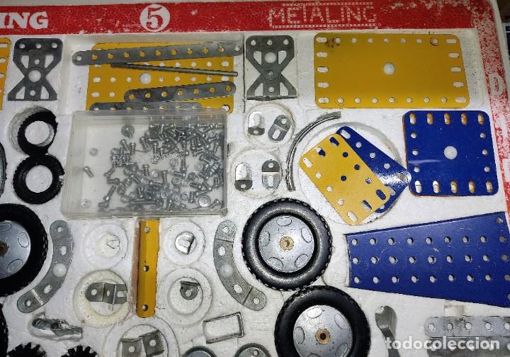 Juegos construcción - Meccano: ANTIGUO MECCANO METALING Nº 5 CAJA GRANDE BASTANTE COMPLETO MADE IN SPAIN ORIGINAL AÑOS 70 - Foto 2 - 249130320