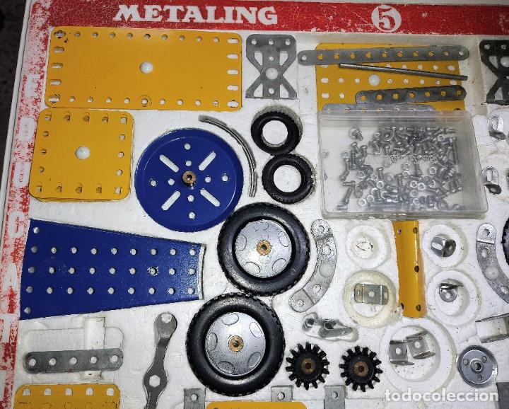 Juegos construcción - Meccano: ANTIGUO MECCANO METALING Nº 5 CAJA GRANDE BASTANTE COMPLETO MADE IN SPAIN ORIGINAL AÑOS 70 - Foto 3 - 249130320