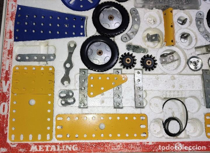Juegos construcción - Meccano: ANTIGUO MECCANO METALING Nº 5 CAJA GRANDE BASTANTE COMPLETO MADE IN SPAIN ORIGINAL AÑOS 70 - Foto 4 - 249130320