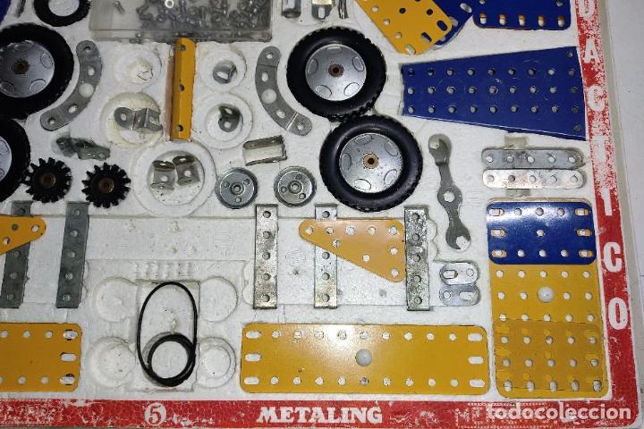 Juegos construcción - Meccano: ANTIGUO MECCANO METALING Nº 5 CAJA GRANDE BASTANTE COMPLETO MADE IN SPAIN ORIGINAL AÑOS 70 - Foto 5 - 249130320