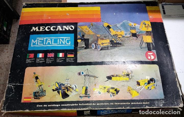 Juegos construcción - Meccano: ANTIGUO MECCANO METALING Nº 5 CAJA GRANDE BASTANTE COMPLETO MADE IN SPAIN ORIGINAL AÑOS 70 - Foto 6 - 249130320