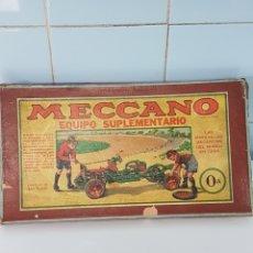 Juegos construcción - Meccano: DOS CAJAS DE MECANO ANTIGUAS CERO Y CEROS A CON PIEZAS. Lote 249510670