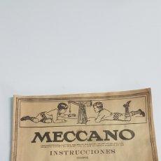 Juegos construcción - Meccano: MECANNO INSTRUCCIONES N° 00 Y 0 DE 32 PAGINAS. Lote 251951690