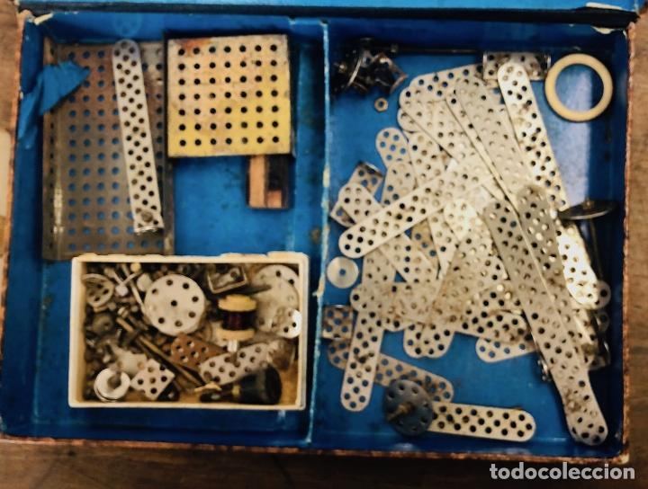 Juegos construcción - Meccano: JUEGO TRIX CONSTRUCCIONES METALICAS. CONSERVA FOLLETO, 3 HOJAS DE MODELOS Y PIEZAS (VER FOTOS) - Foto 5 - 261797455