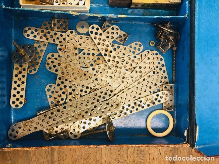Juegos construcción - Meccano: JUEGO TRIX CONSTRUCCIONES METALICAS. CONSERVA FOLLETO, 3 HOJAS DE MODELOS Y PIEZAS (VER FOTOS) - Foto 6 - 261797455
