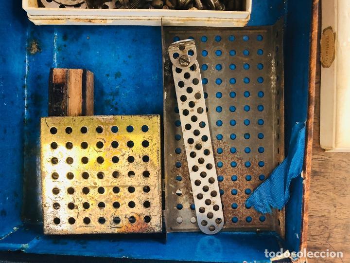 Juegos construcción - Meccano: JUEGO TRIX CONSTRUCCIONES METALICAS. CONSERVA FOLLETO, 3 HOJAS DE MODELOS Y PIEZAS (VER FOTOS) - Foto 7 - 261797455