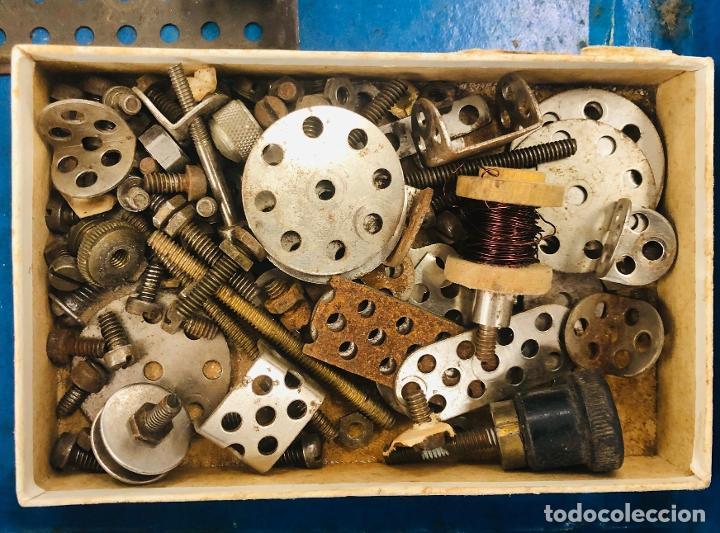 Juegos construcción - Meccano: JUEGO TRIX CONSTRUCCIONES METALICAS. CONSERVA FOLLETO, 3 HOJAS DE MODELOS Y PIEZAS (VER FOTOS) - Foto 8 - 261797455