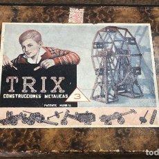 Juegos construcción - Meccano: JUEGO TRIX CONSTRUCCIONES METALICAS. CONSERVA FOLLETO, 3 HOJAS DE MODELOS Y PIEZAS (VER FOTOS). Lote 261797455