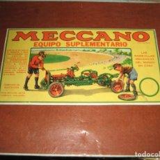 Juegos construcción - Meccano: CAJA MECCANO . EQUIPO SUPLEMENTARIO 3A . INCOMPLETO . VER FOTOS . REYES DE 1959. Lote 265379049