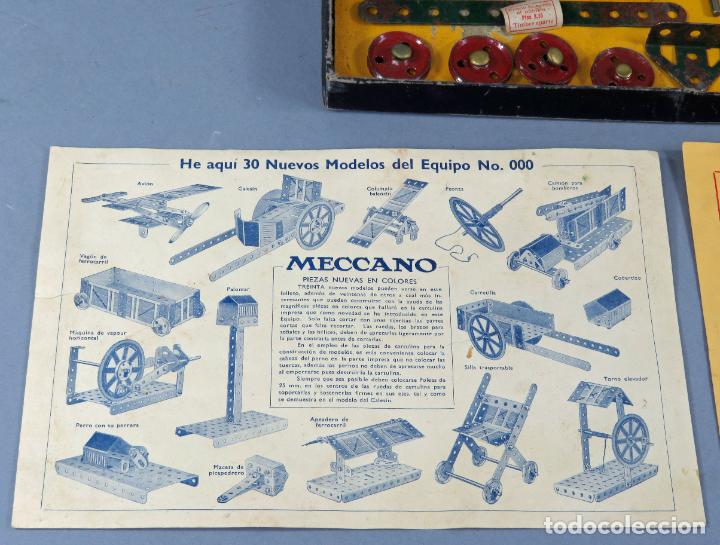 Juegos construcción - Meccano: Meccano 000 caja Ingenieria construcción Fabricado Barcelona instrucciones catálogo años 30 - Foto 3 - 269656068