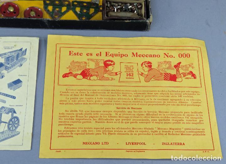 Juegos construcción - Meccano: Meccano 000 caja Ingenieria construcción Fabricado Barcelona instrucciones catálogo años 30 - Foto 4 - 269656068