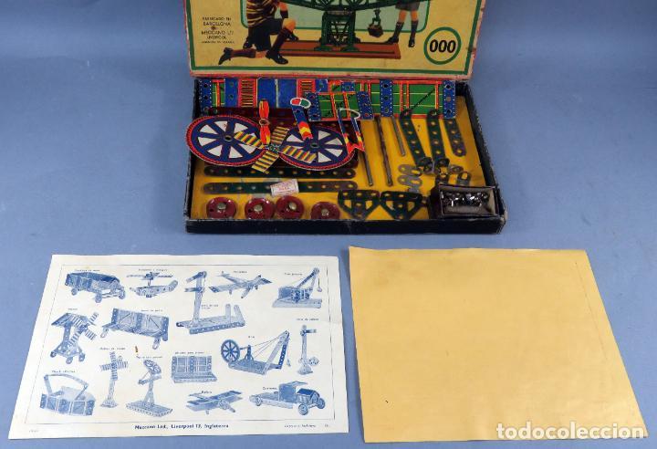 Juegos construcción - Meccano: Meccano 000 caja Ingenieria construcción Fabricado Barcelona instrucciones catálogo años 30 - Foto 5 - 269656068
