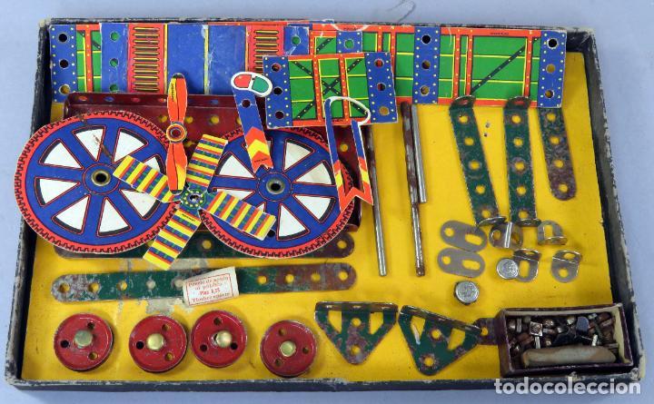 Juegos construcción - Meccano: Meccano 000 caja Ingenieria construcción Fabricado Barcelona instrucciones catálogo años 30 - Foto 6 - 269656068