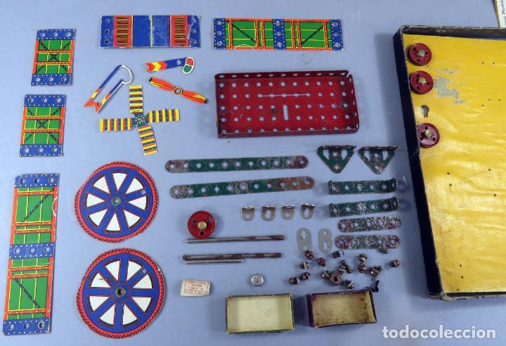 Juegos construcción - Meccano: Meccano 000 caja Ingenieria construcción Fabricado Barcelona instrucciones catálogo años 30 - Foto 7 - 269656068
