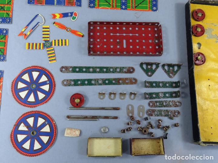 Juegos construcción - Meccano: Meccano 000 caja Ingenieria construcción Fabricado Barcelona instrucciones catálogo años 30 - Foto 8 - 269656068