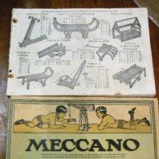Juegos construcción - Meccano: 2 CATALOGO MECCANO Nº 40.1 EQUIPOS 0 A 3 Y EL OTRO REPETIDO SIN TAPAS . INSTRUCCIONES. Lote 270233778