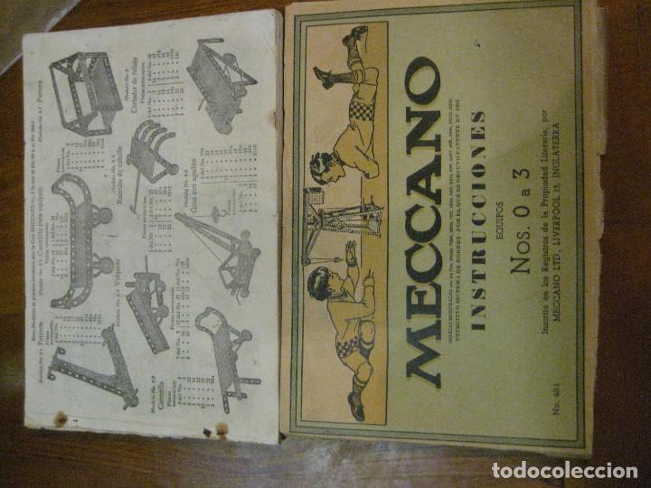 Juegos construcción - Meccano: 2 catalogo meccano nº 40.1 equipos 0 a 3 y el otro repetido sin tapas . instrucciones - Foto 2 - 270233778