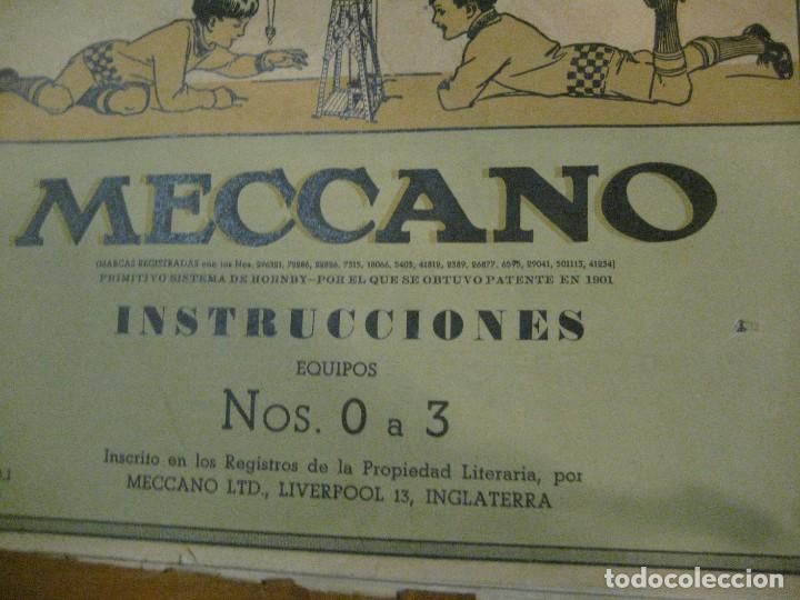 Juegos construcción - Meccano: 2 catalogo meccano nº 40.1 equipos 0 a 3 y el otro repetido sin tapas . instrucciones - Foto 3 - 270233778