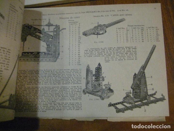 Juegos construcción - Meccano: 2 catalogo meccano nº 40.1 equipos 0 a 3 y el otro repetido sin tapas . instrucciones - Foto 4 - 270233778