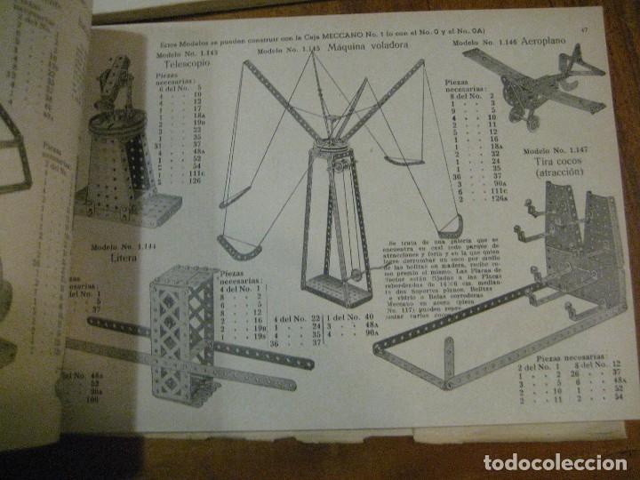 Juegos construcción - Meccano: 2 catalogo meccano nº 40.1 equipos 0 a 3 y el otro repetido sin tapas . instrucciones - Foto 5 - 270233778