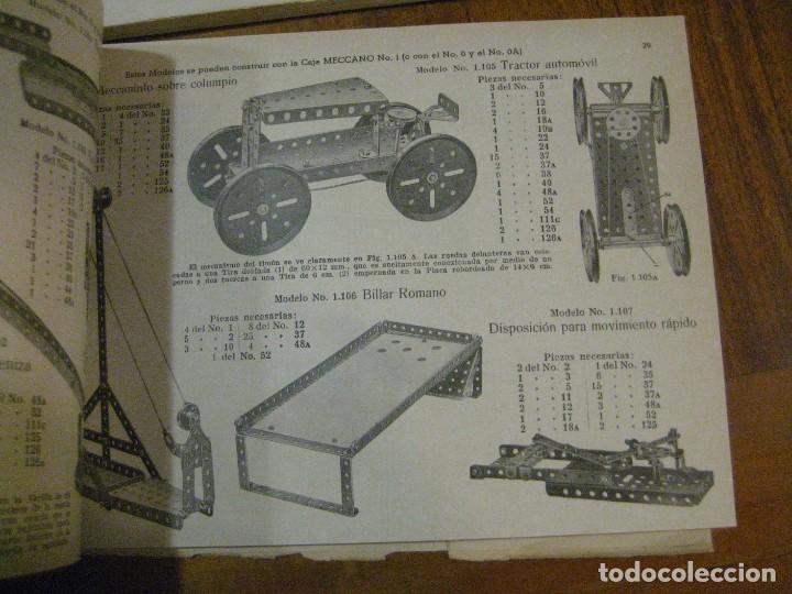 Juegos construcción - Meccano: 2 catalogo meccano nº 40.1 equipos 0 a 3 y el otro repetido sin tapas . instrucciones - Foto 6 - 270233778