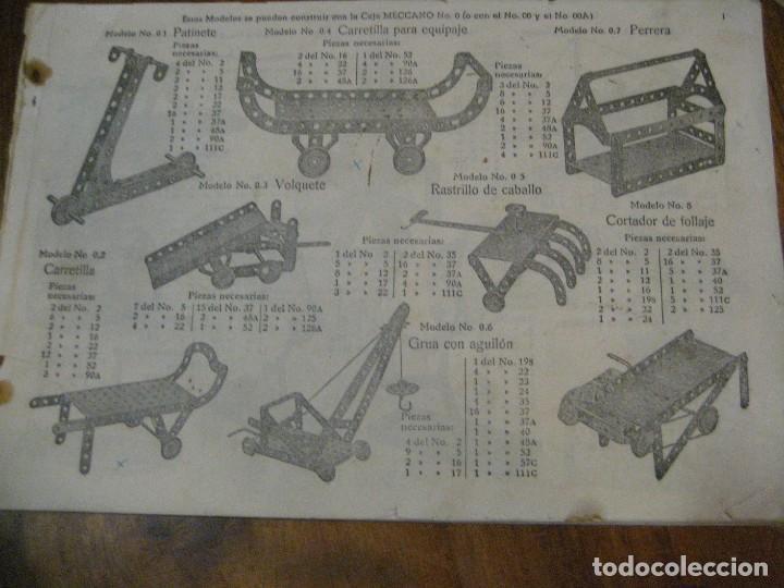 Juegos construcción - Meccano: 2 catalogo meccano nº 40.1 equipos 0 a 3 y el otro repetido sin tapas . instrucciones - Foto 8 - 270233778