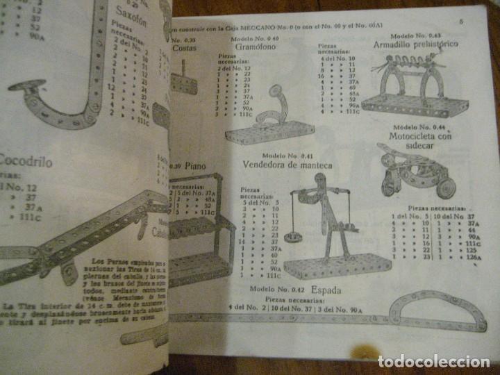 Juegos construcción - Meccano: 2 catalogo meccano nº 40.1 equipos 0 a 3 y el otro repetido sin tapas . instrucciones - Foto 9 - 270233778