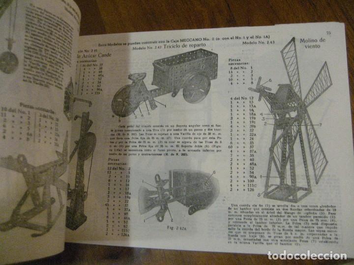 Juegos construcción - Meccano: 2 catalogo meccano nº 40.1 equipos 0 a 3 y el otro repetido sin tapas . instrucciones - Foto 13 - 270233778