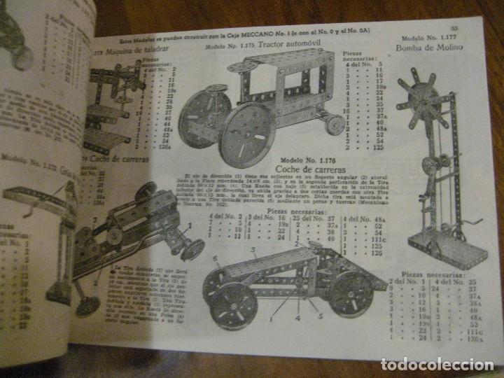 Juegos construcción - Meccano: 2 catalogo meccano nº 40.1 equipos 0 a 3 y el otro repetido sin tapas . instrucciones - Foto 14 - 270233778