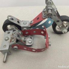 Juegos construcción - Meccano: MECANO MOTO CON SIDECAR, COMO SE VE. Lote 271399793